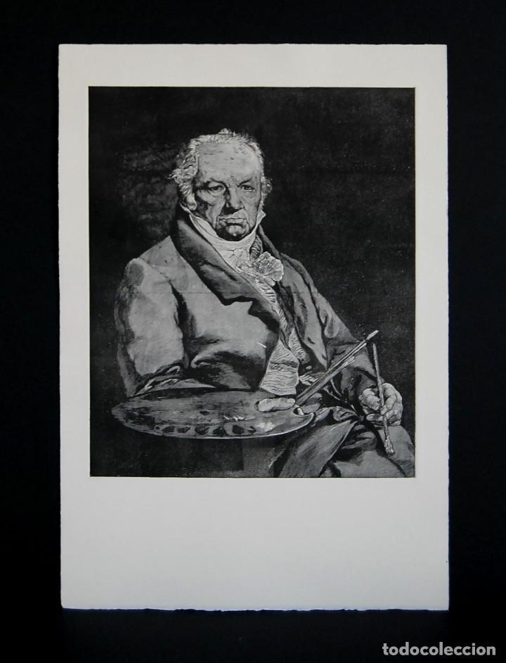 Arte: RETRATO DE GOYA. GRABADO ORIGINAL. COPIA EN GRABADO DEL RETRATO DE VICENTE LÓPEZ - Foto 2 - 147575114
