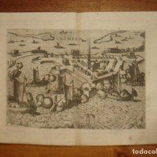 Arte: ESPLÉNDIDO GRABADO ASEDIO KRIMPEN, TERCIOS FLANDES, ORIGINAL, COLONIA, 1608, HOGENBERG / EYTZINGER. Lote 147575326