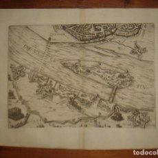 Arte: ESPLÉNDIDO GRABADO ASEDIO ZUTPHEN, TERCIOS FLANDES, ORIGINAL, COLONIA, 1608, HOGENBERG / EYTZINGER. Lote 147575678
