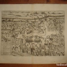 Arte: ESPLÉNDIDO GRABADO ASEDIO VREDENBURG, TERCIOS FLANDES, ORIGINAL,COLONIA, 1608, HOGENBERG / EYTZINGER. Lote 147576186