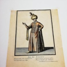 Arte: GRABADO SIGLO XVIII, AGA DES IANISSAIRES.. Lote 147585162