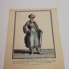 Arte: GRABADO SIGLO XVIII, EMIR FECHRREDIN PRINCE DES DRUS.. Lote 147585718