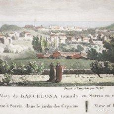 Arte: VISTA DE LA CIUDAD DE BARCELONA (CATALUÑA, ESPAÑA), HACIA 1812. LEGIER/ FORTIER. Lote 147619561