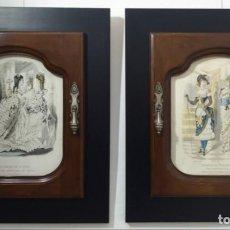 Arte: PAREJA DE GRABADOS DE MODA FEMENINA, AÑO 1868. Lote 147660514