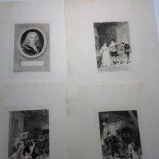 Arte: 9 FINAS LAMINAS DE LALAUZE * LE DIABLE BOITEUX – EL DIABLO COJUELO * CIRCA 1880. Lote 147690322