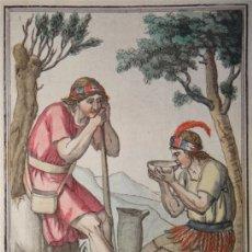 Arte: CAMPESINOS DE PERÚ (AMÉRICA DEL SUR), HACIA 1797. ST. SAUVEUR/LABROUSSE. Lote 147705386