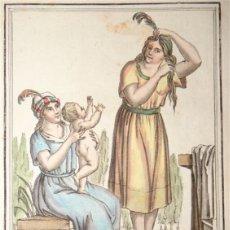 Arte: CAMPESINAS DE PERÚ (AMÉRICA DEL SUR), HACIA 1797. SAINT-SAUVEUR /LABROUSSE. Lote 147727349