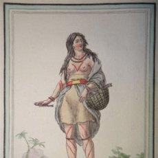 Arte: NATIVA DE LA TIERRA DE FUEGO (ARGENTINA-CHILE), CA. 1797. SAINT-SAUVEUR/ J. LAROQUE. Lote 147737606