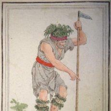 Arte: CURANDERO INDÍGENA DE LA TIERRA DE FUEGO (ARGENTINA-CHILE), CA. 1797. SAINT-SAUVEUR/ J. LAROQUE. Lote 147740216