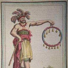 Arte: JEFE INDÍGENA DE LA LA PATAGONIA (ARGENTINA-CHILE), CA. 1797. SAINT-SAUVEUR/ J. LAROQUE. Lote 147745736