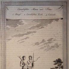 Arte: HOMBRE Y MUJER NATIVOS DEL CARIBE (AMÉRICA CENTRAL), HACIA 1770. BELLIN/PREVOST. Lote 147753093