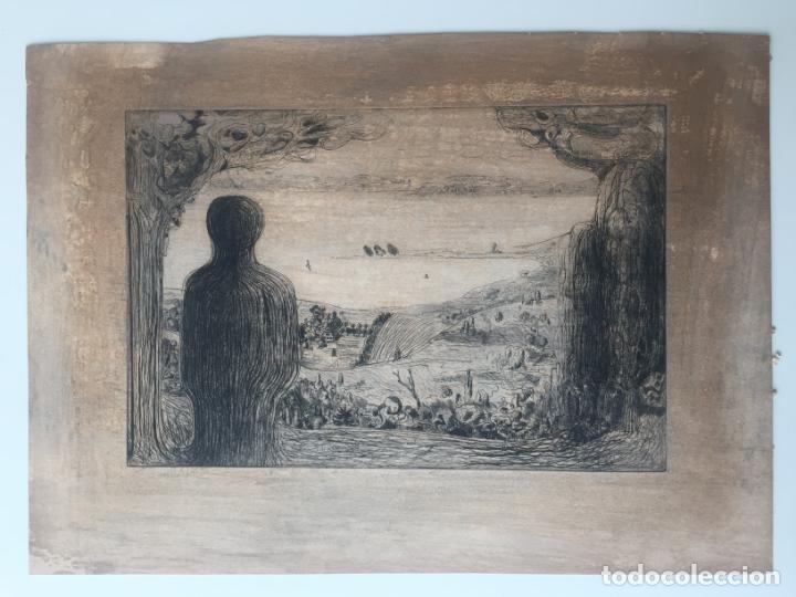 AGUAFUERTE SIN FIRMAR - VISTA DE PAISAJE (Arte - Grabados - Contemporáneos siglo XX)