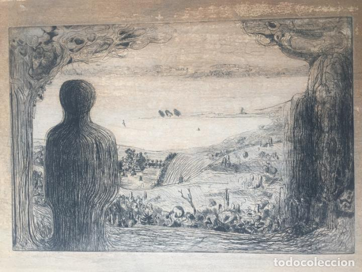 Arte: AGUAFUERTE SIN FIRMAR - VISTA DE PAISAJE - Foto 5 - 147758106