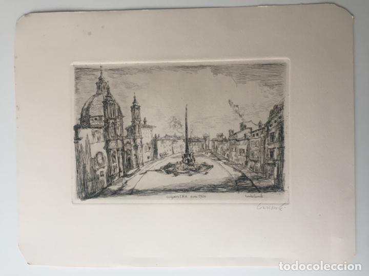 ARNOLDO CIARROCCHI - AGUAFUERTE - ROMA - FIRMADO A LÁPIZ Y EN PLANCHA (Arte - Grabados - Contemporáneos siglo XX)