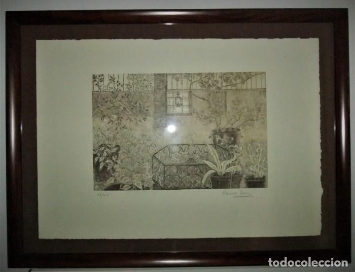 GRABADO ENMARCADO DE CARME SERRA CANTARELL (Arte - Grabados - Contemporáneos siglo XX)