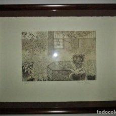 Arte: GRABADO ENMARCADO DE CARME SERRA CANTARELL. Lote 147817822