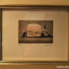 Arte: ANTIGUO GRABADO ENMARCADO DE GLAUCO CAPOZZOLI .1929-2003 . FIRMADO Y NUMERADO A LAPIZ. . Lote 147819662