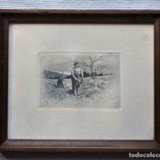 Arte: ANTIGUO GRABADO DE CAMPESINAS DE TOMÁS CAMPUZANO (1857-1934). Lote 147826702