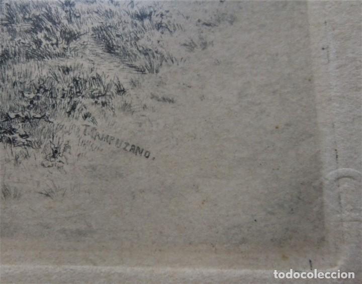 Arte: ANTIGUO GRABADO DE CAMPESINAS DE TOMÁS CAMPUZANO (1857-1934) - Foto 3 - 147826702