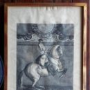 Arte: GRABADO COURBETTE A DROITE. CON MARCO Y CRISTAL. TAMAÑO DEL MARCO 73 X 51 CM. Lote 147890582