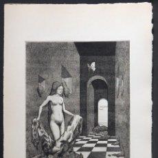 Arte: LUIS DE HORNA. AGUAFUERTE. SIGNADO HC Y FIRMADO. 1976. Lote 147896082