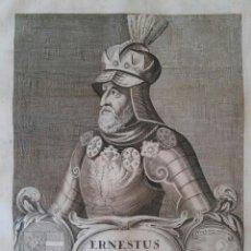 Arte: ERNESTUS DUX AUSTRIAE. GRABADO SIGLO XVII. AUSTRIA. HERÁLDICA. HABSBURGO. Lote 130967268