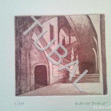 Arte: TUBAL MARZO-MART MANEL AGUAFUERTE 1/100 FIRMADO A GRAFITO MANRESA 1944 EN CARPETA 600 GRS. Lote 148035730