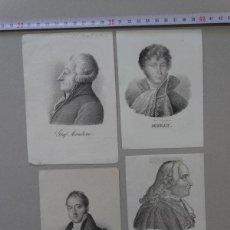 Arte: LOTE DE 4 LITOGRAFIAS DE PERSONAJES HISTORICOS, MURAT, MAUGIN,MIRABEAU, MALESHERBES, DATAN DE 1840. Lote 148174074