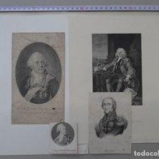 Arte: LOTE DE 4 GRABADOS DE PERSONAJES HISTORICOS, MASSENÁ, CORAM, POTYMKIN, ALREDEDOR DE 1805. Lote 148175278