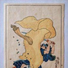 Arte: GRABADO JAPONÉS ORIGINAL DEL MAESTRO KUNIYOSHI, CIRCA 1850, BUEN ESTADO, RARO, SIGLO XIX. Lote 148208598