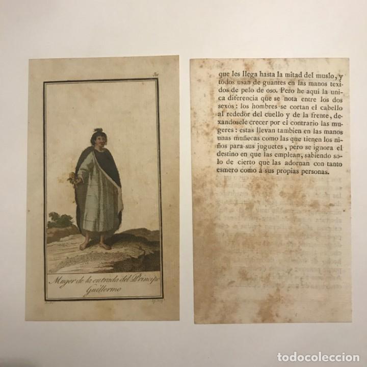 Mujer de la entrada del Príncipe Guillermo 1790-1800 Grabado iluminado a mano - 148327778