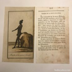 Arte: HOMBRE DE LA NUEVA HOLANDA 1790-1800 GRABADO ILUMINADO A MANO. Lote 148328062