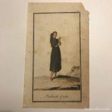Arte: INDIA DE QUITO 1790-1800 GRABADO ILUMINADO A MANO. Lote 148330186