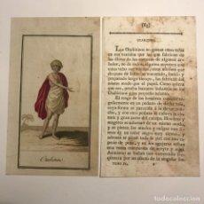 Arte: OTAHITINO 1790-1800 GRABADO ILUMINADO A MANO. Lote 148330350