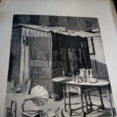 Arte: GRABADO LITROGRAFIA VICENTE VALLS - ORIGINAL. Lote 148405022