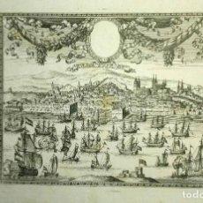Arte: GRABADO ANTIGUO LISBOA PORTUGAL AÑO 1740 CON CERTIF. AUTENT. GRABADOS ANTIGUOS DE PORTUGAL LISBOA. Lote 148422102