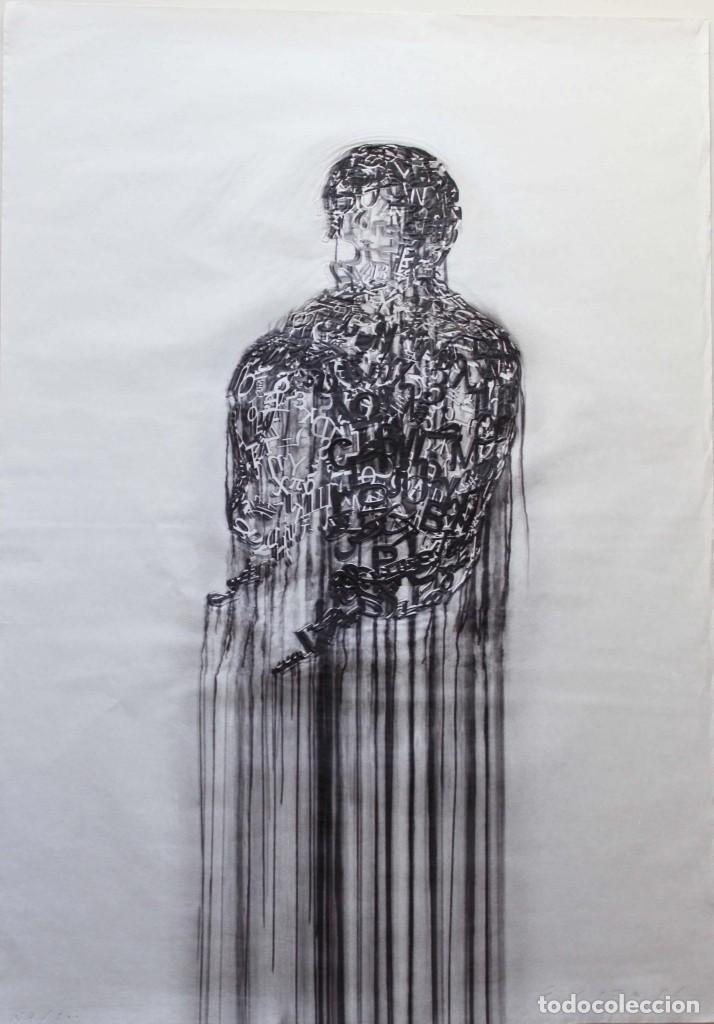 JAUME PLENSA LITOGRAFIA GOFRADO CON RELIEVE .91X62 CM FIRMADO Y NUMERADO A MANO (Arte - Grabados - Contemporáneos siglo XX)