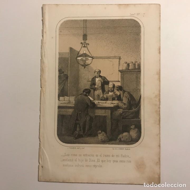 J. VALLEJO, DIBº Y LITº. LIT DE J. DONON. LAMª 10. MADRID. 14,5X22CM (Arte - Grabados - Modernos siglo XIX)