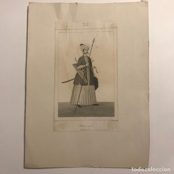 BCKERMADJIT .INDIA. VERNIER DEL. LEMAITRE DIREXIT. 19X26 CM (Arte - Grabados - Modernos siglo XIX)