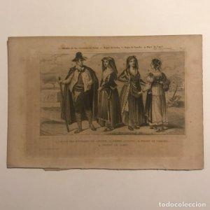 Aldeano de las cercanías de Siena, mujer de Ischia, mujer de Procida, mujer de Capri 21x14,5cm