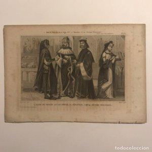 Dux de Venecia en el siglo XV?, senador, jóvenes venecianos 21x14,5 cm