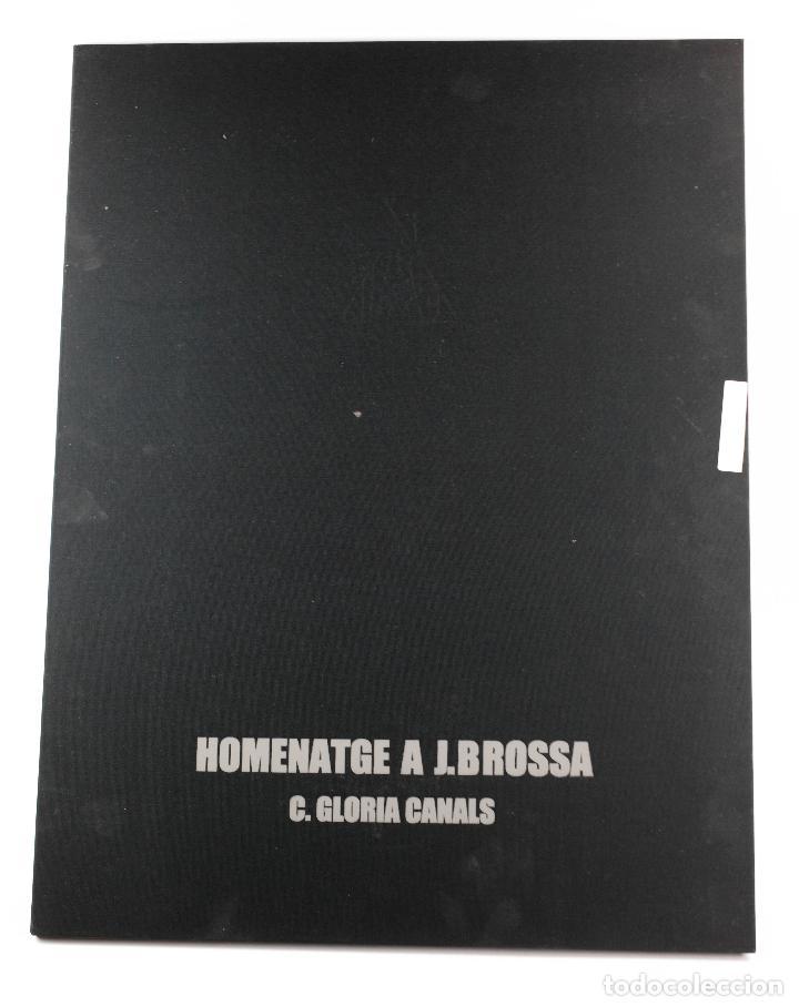 HOMENATGE A JOAN BROSSA, GLÒRIA CANALS, CARPETA CON 5 GRABADOS. 68X51,5CM (Arte - Grabados - Contemporáneos siglo XX)