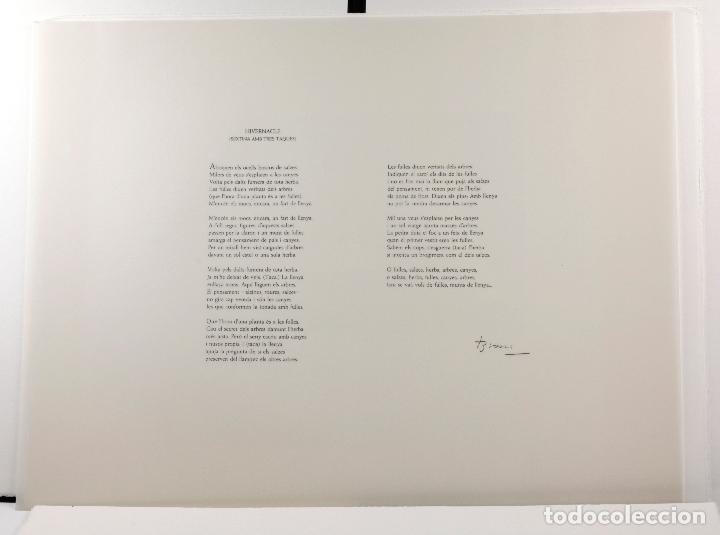 Arte: Homenatge a Joan Brossa, Glòria Canals, carpeta con 5 grabados. 68x51,5cm - Foto 13 - 206877825