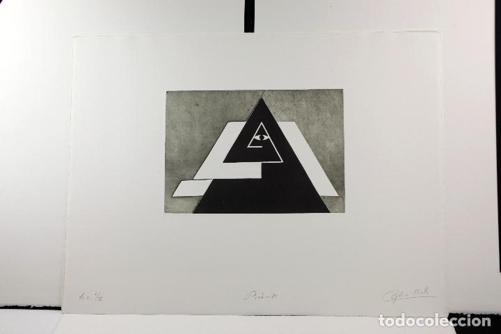 Arte: Homenatge a Joan Brossa, Glòria Canals, carpeta con 5 grabados. 68x51,5cm - Foto 2 - 206877825