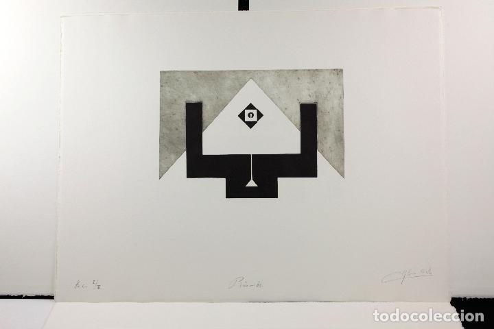 Arte: Homenatge a Joan Brossa, Glòria Canals, carpeta con 5 grabados. 68x51,5cm - Foto 5 - 206877825