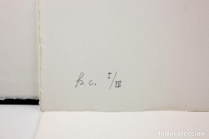 Arte: Homenatge a Joan Brossa, Glòria Canals, carpeta con 5 grabados. 68x51,5cm - Foto 6 - 206877825
