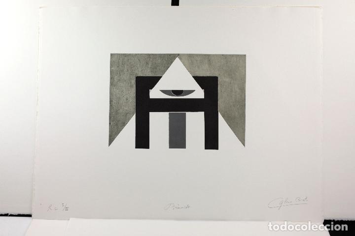 Arte: Homenatge a Joan Brossa, Glòria Canals, carpeta con 5 grabados. 68x51,5cm - Foto 7 - 206877825