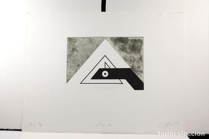 Arte: Homenatge a Joan Brossa, Glòria Canals, carpeta con 5 grabados. 68x51,5cm - Foto 9 - 206877825