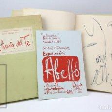 Arte: LIBRO L'HORA DEL TE, 1ª EDICIÓN 1961 CON DIBUJO ORIGINAL JOAN ABELLÓ PRAT - 14 AGUAFUERTES Y DÍPTICO. Lote 149157934