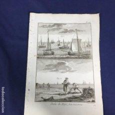 Arte: GRABADO PESCA DE BACALAO BERNARD DIREXIT ORIGINAL S XVIII ENCICLOPEDIA DIDEROT ET DALEMBERT PL 108. Lote 149167030